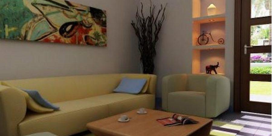 Desain Interior Ruang Tamu Rumah Minimalis Wild Country Fine Arts